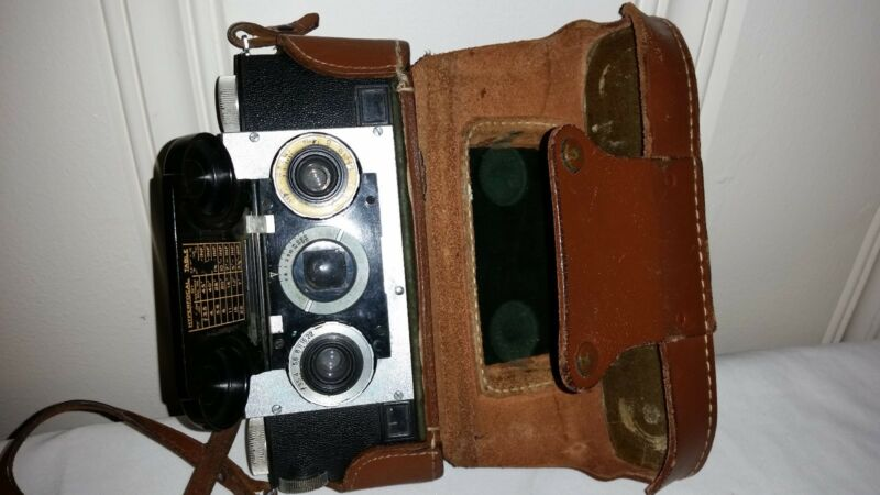 Vintage c1950 Stereo Realist 3D Rangefinder Camera + Original Leather Case