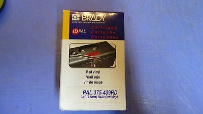 1 Brady Id Pal Pal-375-439rd Vinyl Labeling Cartridge. Red Vinyl 38. New In