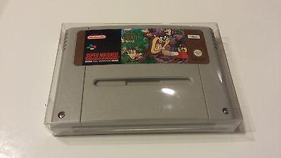 10 PAL SNES and SFC Cart Cartridge Box Protectors Sleeves Case Super Famicom