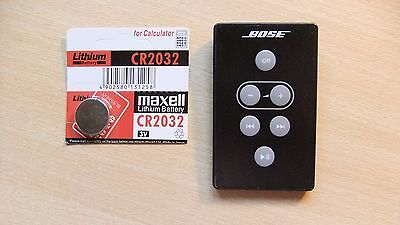 Genuine Bose Black SoundDock Series 1 Remote Control A1 + New Battery Excellent