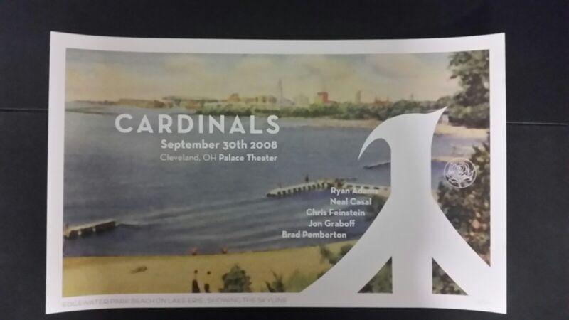 RYAN ADAMS Cleveland 2008 Numbered #/200 Tour Poster Cardinals Lithograph Print