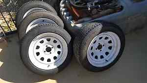 16inch 4x100 steelie rims with tyres 225/50/r16 - e30 race drift Williamstown Barossa Area Preview