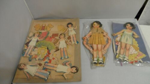 PAPER DOLLS MISC 9 DOLLS AND CLOTHING.    NINE DOLLS LOTS OF CLOTHING. SOME UNCU