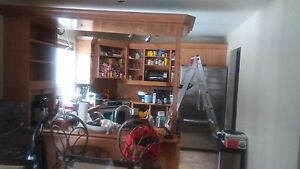 Kitchen 8 years old ..will fit a space of 10X10 or 10X12 ...