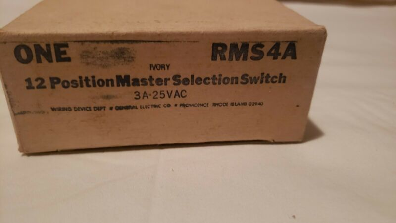 GE 12 Position Master Selection Switch RMS4A