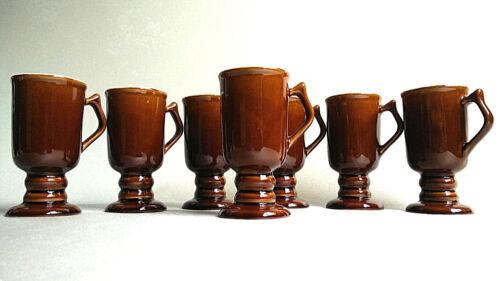 7 VINTAGE CHEFSWARE IRISH COFFEE MUGS FOOTED PEDESTAL CUP