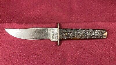 Hibbard Spencer Bartlett Rare Fixed Blade Hunting Knife Vintage Antique USA