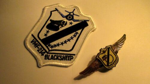 VMA-214 Blacksheep Pin and Patch Set