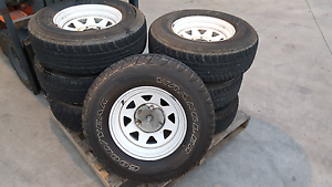 Tyres with the wheels $400 with the lot (7) tyres Craigieburn Hume Area Preview