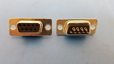D-sub Receptacle Female 9 Position 2 Row Gold Panel Mount 21 Pcs