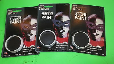(3) Black Face Colours Makeup Safe Non ToxicTheater Face & Body Paint Halloween - Good Halloween Face Paint