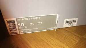 Air Force One High - Retro 2007 Size 10