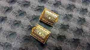 Very pretty intricate gold fillagree and enamel earrings Highland Park Gold Coast City Preview