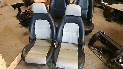 Mazda Mx5 MK1 Black and Grey Leather Seats Ideal for Kit Cars
