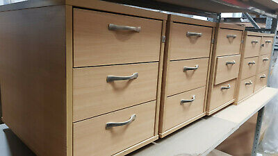 OFFICE STORAGE 42x60x55CM FILING CABINET FURNITURE 3 DRAWER CUPBOARD