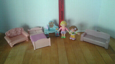 Fisher Price Loving Family MY FIRST DOLLHOUSE 2 figures and FURNITURE for sale  Riverside