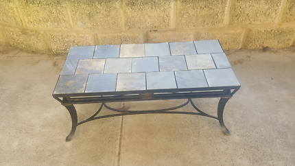 Slate and iron coffee table Forrestdale Armadale Area Preview