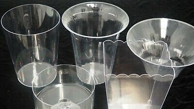 Plastic Clear Decorative Food Serving Party Favor Containers Vase Bowls Cylinder