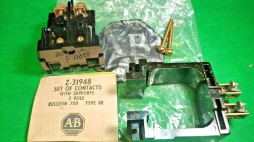 Z-31948 A-B Allen Bradley TYPE BR - SET OF CONTACTS WITH SUPPORTS - 2 POLE - NEW