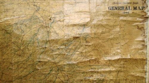 Irrigation Department Punjab GENERAL MAP 1946 66x45
