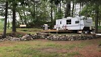 Delightful camper with direct waterfront access