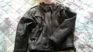 Leather Jacket Bike Style Large