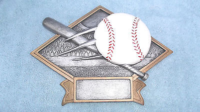 Baseball trophy resin diamond plate full color DPS10 ()