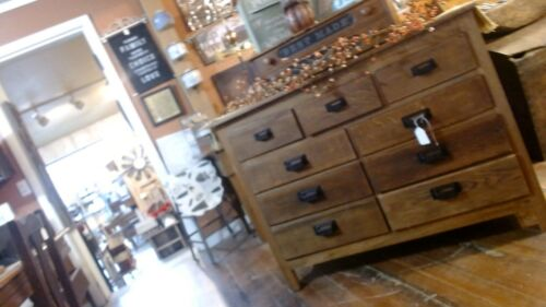 Antique fully restored oak apothacary