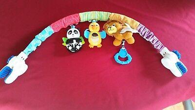 - Baby Einstein Activity Toy Stroller Arch with Lion (Noise), Panda, Bird (Mirror)
