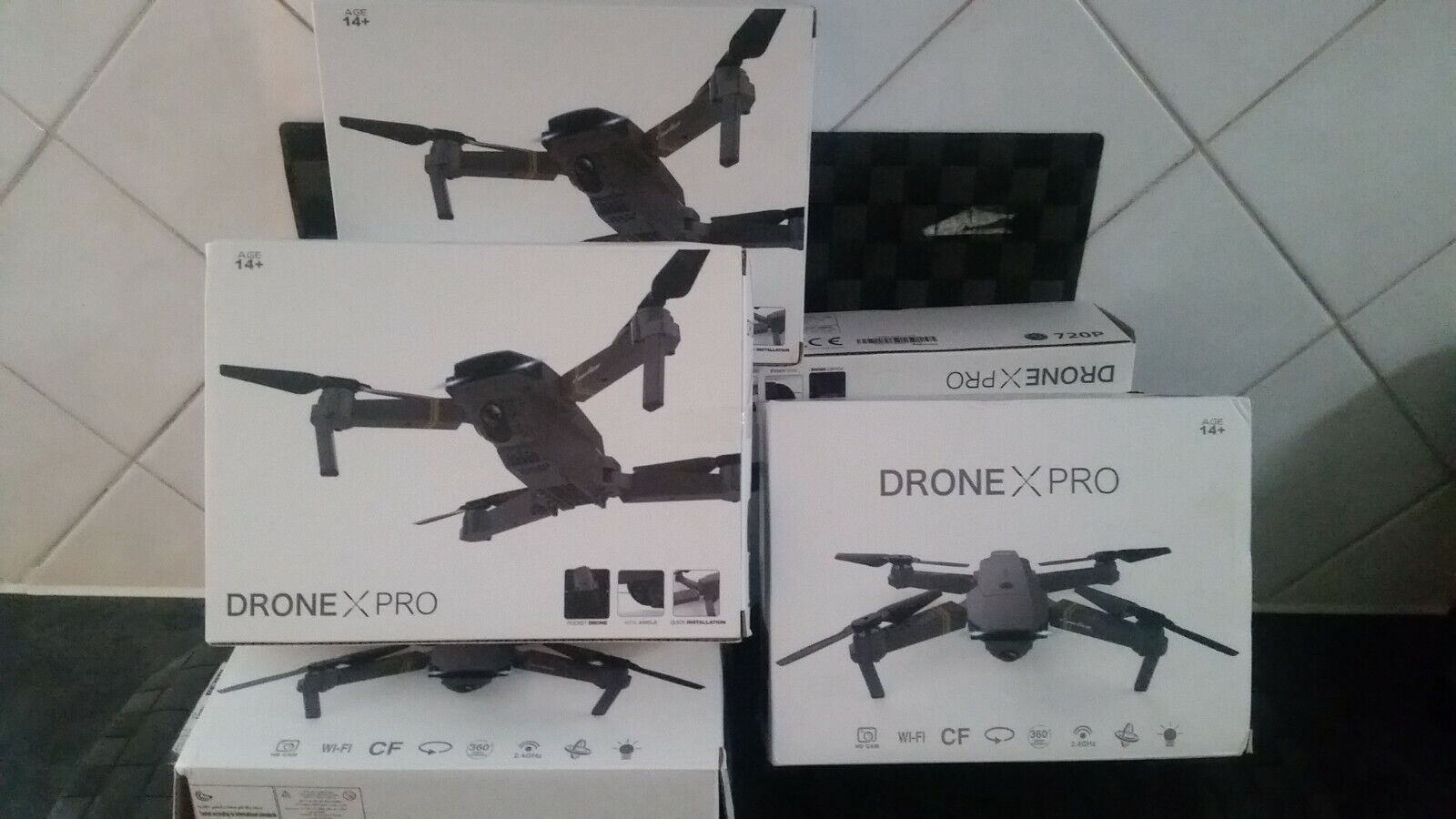 Drone X Pro Foldable Quadcopter +720P HD Camera|WiFi FPV GPS BatteriesRC \ New/