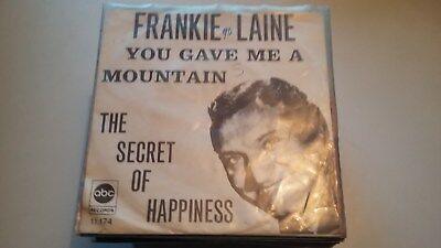 45t  FRANKIE LAINE--YOU GAVE ME A MOUNTAIN---