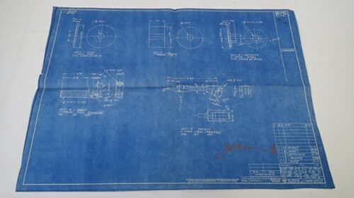 Antique Blueprint Industrial Art Detroit Automotive Ford Motor 1941 #5