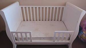 NEW Baby Cot W:149 x H:100 x D:77 cm - White + premium mattress Green Valley Liverpool Area Preview