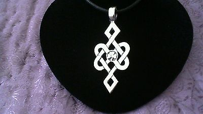 Irish Celtic Knot Pewter Pendant Necklace! New Made in USA Ireland Knotwork