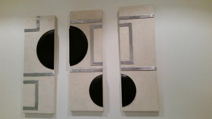 3 piece plaster  wall art- hanging  Burwood Burwood Area Preview
