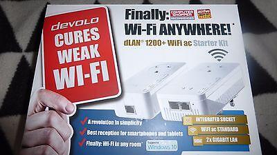 DEVOLO 9392 09392 dLAN 1200+ WiFi ac Powerline Starter Kit - Twin Pack,