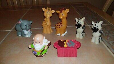 Fisher Price Little People Noah's Ark Figures Noah Animals Tools Lot of 7