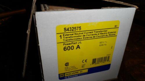 NEW Square D S432575 External Neutral Current Transformer  600A