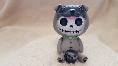 Furrybones Pugsly the Dog Figurine Skull in Costume Collect New Free Shipping
