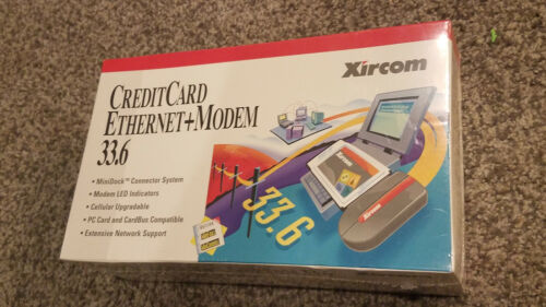 Xircom CreditCard Ethernet + Modem 33.6 CEM-33 BTMD (AM) Brand New Sealed