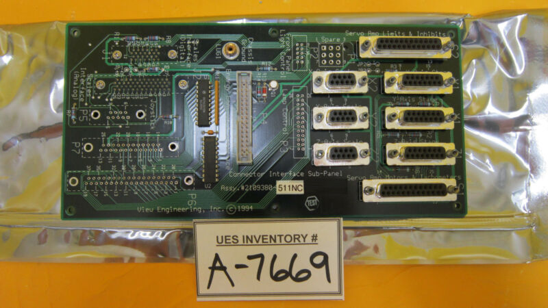View Engineering 2109380-511NC Connector Interface Sub-Panel Used Working