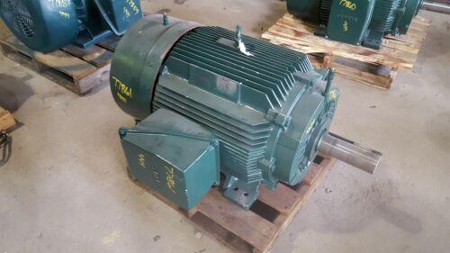 125 HP Siemens Electric Motor, 1800 RPM, 444T 445T Frame, TEFC, 460 V, 1.15 S.F.