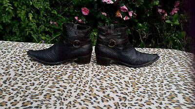 Khriò Brown Leather Ankle boots UK size 5 EU 38