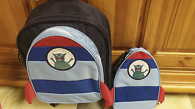 NWT Boys Gymboree Space Alien Backpack and Lunchbox Set -School-Cute!! (Boys Backpack And Lunchbox)