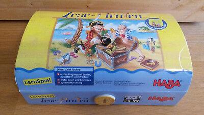 Lese-Piraten, Lernspiel von HABA, vollständig, wie neu!