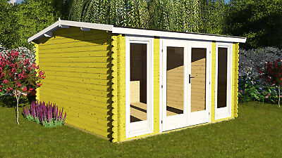 Garden Office/Studio 3.9m x 3m 40mm, Perfect For Gym! Under 2.5mH