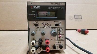 Kikusui Pab25-1tr Dc Tracking Power Supply 3 Good