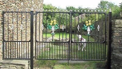 Wrought Iron Gate, single gate garden gate drive gate