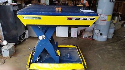 Southworth Hydraulic Scissor Lift Table 2000 Lb Turntable Top  Safety Curtain