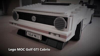 1 Moc (LEGO CREATOR MOC VW GOLF GTI MK1 Cabrio Bauanleitung ,Auto,Car,weiss)